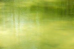 绿色水表面 库存图片