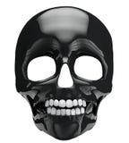 黑色头骨 向量例证