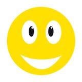 黄色兴高采烈的面孔 库存图片