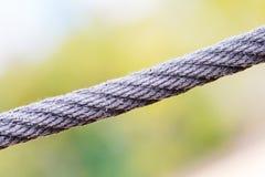 黑色绳索 库存图片