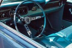 黑色1966年Ford Mustang 库存图片