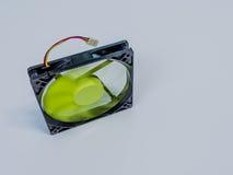 绿色120mm计算机盒爱好者 免版税库存图片