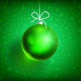 绿色01 Xmas的球 免版税库存图片