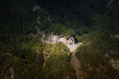 绿色Anaga山 轻的影子 高涨tenerife 库存照片