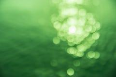 绿色bokeh。 图库摄影