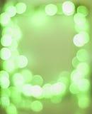 绿色bokeh框架 免版税库存图片
