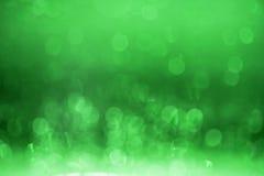 绿色bokeh背景。 库存图片