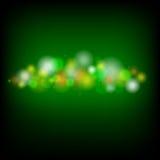 绿色Bokeh背景传染媒介 库存照片