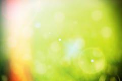 绿色bokeh背景 免版税库存图片