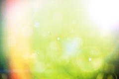 绿色bokeh背景 免版税库存照片