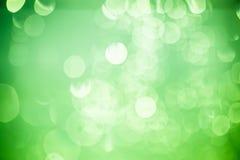 绿色bokeh,背景。 免版税库存照片