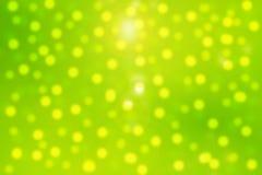 绿色Bokeh 免版税图库摄影