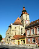 黑色brasov教会罗马尼亚 免版税库存照片