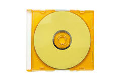 黄色CD 库存图片