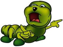 绿色Cutworm 免版税库存图片