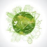 绿色Eco地球,生态概念, 免版税图库摄影