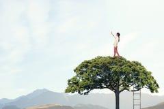 绿色eco生活 混合画法 混合画法 库存图片