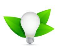 绿色eco能量概念。想法生长 库存图片