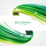 绿色eco通知 免版税图库摄影