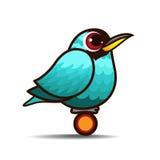 绿色Honeycreeper鸟动画片 免版税图库摄影