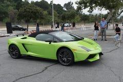 绿色Lamborghini Gallardo 图库摄影