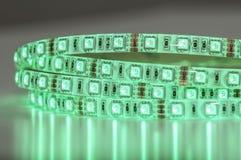 绿色LED条形照明灯技术 库存照片