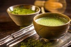 绿色matcha茶 免版税库存图片