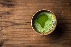 绿色matcha茶 免版税图库摄影