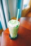绿色matcha茶 库存照片