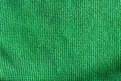 绿色microfiber布料 免版税库存图片