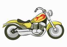 黄色motocycle 免版税库存图片