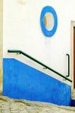绿色Obidos扶手栏杆 库存图片