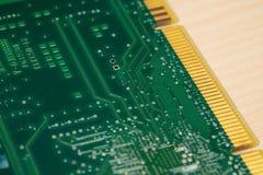 绿色PCB板 库存图片