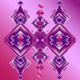 紫色rombs抽象背景  免版税库存图片