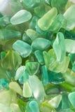 绿色seaglass 免版税图库摄影