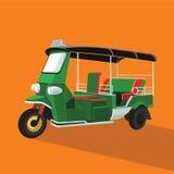 绿色Tuk Tuk在泰国 图库摄影