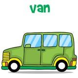 绿色van cartoon的例证 向量例证