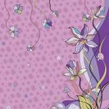 紫色Waterlily花 免版税库存图片