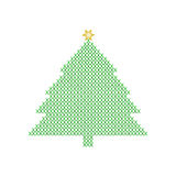 从绿色x形成的圣诞树 库存图片