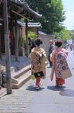 艺妓京都日本 免版税库存照片