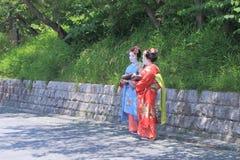 艺妓京都日本 免版税库存图片