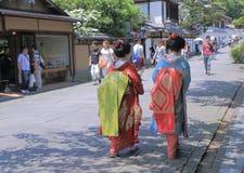 艺妓在京都日本 库存照片