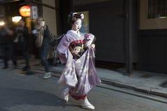 艺妓在京都,日本 免版税库存图片