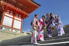艺妓在京都 免版税库存图片