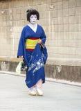 艺妓在Gion区在京都,日本 库存照片