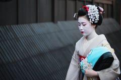 艺妓在Gion 免版税库存图片