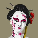 艺妓日本VEKTOR艺术例证 库存照片