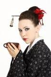 艺妓日语 免版税库存图片
