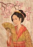 艺妓日语 免版税库存照片