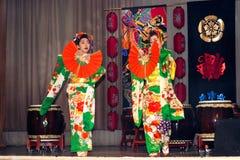 艺妓舞蹈 免版税库存图片